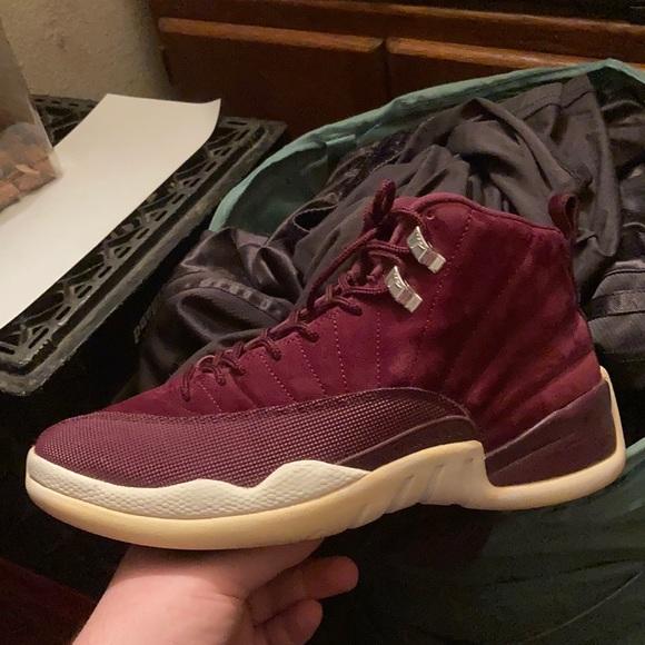 Jordan Shoes   Air Retro 12 Maroon Size